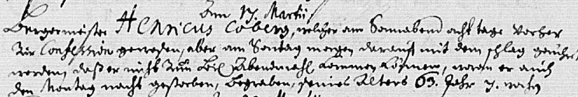Ist der Barockkomponist und -Musiker Coberg ein Rodenberger? (2/3)