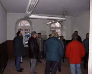 Erste Besichtigung nach dem Kauf durch den Rat der Stadt.