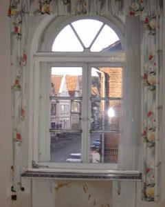Blick aus dem Fenster vom Büro des ehemaligen Stadtdirektors in der ersten Etage, südwestliche Ecke